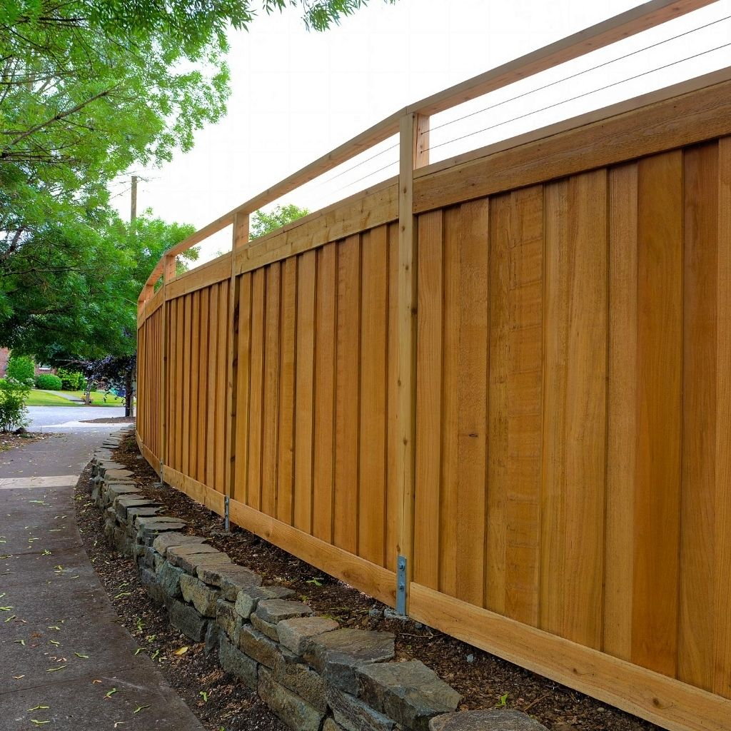 excellent wood fence to be placed on your property